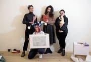 Von links: Loren Kagny, Gaia Vincensini, Sabrina Röthlisberger und Giulia Essyad im Sic!. (Bild: Corinne Glanzmann (Luzern, 9. Februar 2018))