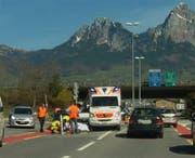 Der Velofahrer erlitt mittelschwere Verletzungen. (Bild: Leserbild Bote der Urschweiz)