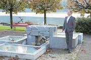 Der Hergiswiler Gemeindepräsident Remo Zberg im Park beim Gemeindehaus. (Bild: Martin Uebelhart (Hergiswil, 6. Oktober 2017))