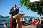 Bundesrat Alain Berset sprach am Mittwoch in Stansstad. (Bild: Corinne Glanzmann / Neue NZ)