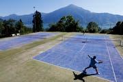 Tennis in traumhafter Atmosphäre wird es in Walchwil bald nicht mehr geben. Die beiden Plätze in der Dürrenburg werden überbaut. (Bild: Stefan Kaiser / Neue ZZ)