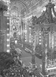 Am 15. Mai 1947 wurde Bruder Klaus im Vatikan heiliggesprochen. (Bild: Leonard von Matt/Fotostiftung Schweiz)
