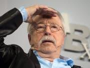 Preisträger Wolf Biermann. (Aufnahme vom Oktober 2016 an der Frankfurter Buchmesse) (Bild: KEYSTONE/EPA DPA/ARNO BURGI)