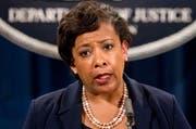 US-Justizministerin Loretta Lynch gab am Mittwoch die Beschlagnahmung vor den Medien in Washington D.C. bekannt. (Bild: EPA)
