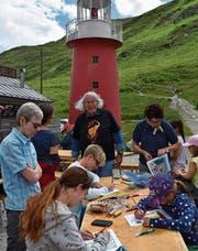 Der Malwettbewerb fand bei Kindern grossen Anklang. (Bild: Georg Epp (Oberalppass, 30. Juli 2017))