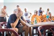 Enttäuscht: Heinzers Klubkollegen vom Yachtverein Immensee. (Bild Manuela Jans-Koch)