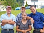 Von links: Toni Ziegler, Michael Gisler, Melanie Gisler und Fabian Arnold. (Bild: PD)