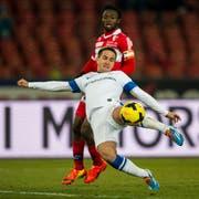 Mit 11 Treffern Torschützenleader der Super League: Mario Gavranovic vom FC Zürich. (Bild: Keystone / Ennio Leanza)