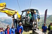 Am 10. Juli ist der Spatenstich für die erste Sesselbahn der Andermatt-Sedrun-Skiarena erfolgt. (Bild Manuela Jans)