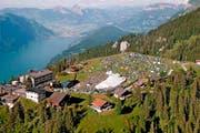 Vom Festivalgelände mit Zeltdorf auf der Klewenalp bietet sich auch eine tolle Aussicht. (Bild: PD)