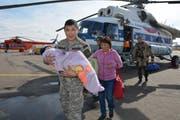 Kleinkind überlebt drei Tage alleine in Sibiriens Wildnis. (Bild: EMERCOM/ Republic of Tuva)