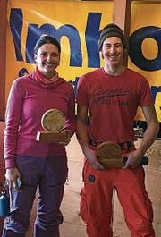 Die Klubmeister Beatrice Gisler und Jonas Gisler. (Bild: PD)