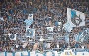 Die Fans des FCL werden ihr Team auch in Sion mit einer Choreografie unterstützen. (Bild: Martin Meienberger/Freshfocus (Luzern, 19. April 2015))