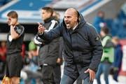 Enorm unter Druck: FCL-Trainer Markus Babbel. (Bild: Martin Meienberger/Freshfocus (Luzern, 22. Oktober 2017))