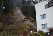 Im Altdorfer Quartier Utzigmatt ereignete sich am Sonntag ein Murgang. (Bild: Bruno Arnold)