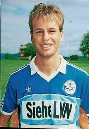 Marcel Kälin 1988 als FCL-Profi. (Bild: PD)