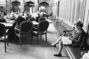 CVP-Nationalrätin Elisabeth Blunschy verfolgte während ihrer Amtszeit - hier eine undatierte Aufnahme aus dem Ständeratssaal - so einige politische Debatten im Bundeshaus. (Bild: Keystone)