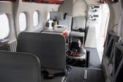 Die neue Luftbildkamera ADS 100 im Testflugzeug. (Bild: Anthony Anex / Keystone (Bern, 18. Mai 2017))
