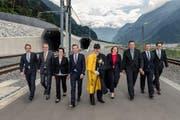 Der Urner Regierungsrat im Juni 2016. (Bild: PD / Valentin Luthiger)