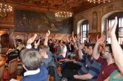 Die Mitglieder der neuen jglp-Partei bei der Gründungsveranstaltung im Ratssaal in Luzern. (Bild: pd)