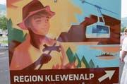 Ab Juli wirbt diese Tafel an der Autobahn für die Ferienregion Klewenalp. (Bild: Christoph Näpflin (Buochs, 24. Juni 2017))