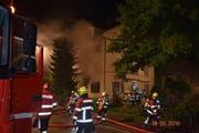 Trotz zügigem Löschen des Brandes sind zwei Personen bei dem Brand ums Leben gekommen. (Bild: Luzerner Polizei)