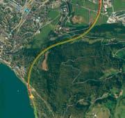Der Verkehr Richtung Uri läuft nur langsam (Stand 16.45 Uhr). (Bild: Google Maps)