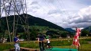 Kleiner Geschicklichkeitsparcours zwischen Ibach und Brunnen. (Bild: Bote der Urschweiz)