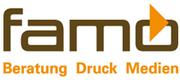 Das Logo von Famo-Druck.