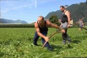 Das Schweizer Team hat am Dienstag schon fleissig trainiert. (Bild: Geri Holdener, Bote der Urschweiz)