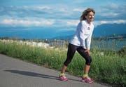 Bereits zwei Tage nach dem 100-km-Lauf war Beatrice Odermatt wieder laufend unterwegs. (Bild: Boris Bürgisser (Eich, 16. Juni 2017))