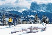 Nicht nur Skifahrer kommen in der Dolomitenlandschaft auf ihre Kosten.