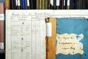Ein Blick in die Vergangenheit: alte Steuerregister im Zuger Stadtarchiv. (Bild Dominik Hodel)