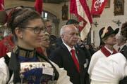 Bundesrat Ueli Mauer während dem Festgottesdienst. (Bild: André A. Niederberger / Neue NZ)