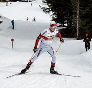 Patrick Marbacher kämpft mit dem schwierigen Schnee im Tessin. (Bild: Martin Arnold (Campra, 26. Februar 2017))