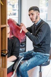 Übt seinen Traumjob aus: Mohammed Habach bei der Arbeit. (Bild: Nadia Schärli (Nottwil, 31. Oktober 2017))