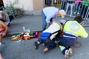 Der Unfall ereignete sich im Zentrum von Charmey an der Hauptstrasse, wie die Polizei bekanntgab. (Bild: Keystone)