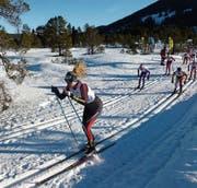 Bianca Buholzer auf dem Weg zur Goldmedaille im Einzellauf. (Bild: Hanspeter Buholzer (Langis, 6. Januar 2017))