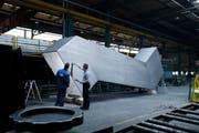 17 Tonnen schwer ist die Konstruktion aus rostfreiem Stahl. (Bild Stefan Kaiser)