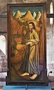 Die älteste Darstellung von Bruder Klaus: das Altarbild von Sachseln von 1492. (Bild: Romano Cuonz (23. Januar 2018))
