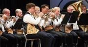 Die Musikgesellschaft Dietwil zeigt im Jahreskonzert ihr Können. (Bild: Werner Schelbert (Dietwil, 3. Dezember 2017))