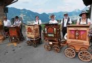 Zum 100-Jahr-Jubiläum von Seelisberg Tourismus treffen sich am kommenden Wochenende Drehorgelspieler aus der ganzen Schweiz und Deutschland in Seelisberg. (Bild: Christoph Näpflin (Seelisberg, 19. Juli 2015))