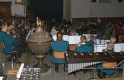 Die Musikgesellschaft Alpnach an ihrem Konzert. (Bild: Primus Camenzind (Alpnach, 10. Dezember 2017))