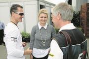Daniel Reinhard zusammen mit Michael und Corinna Schumacher. (Bild: PD)
