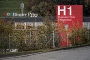 Blick auf die Druckerein Ringier Print. (Bild: Pius Amrein (Adligenswil, 8. November 2017))