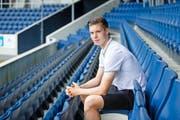 Cedric Itten blickt in eine viel versprechende Zukunft. «Er wird eine Bereicherung für unser Spiel sein», sagt FCL-Sportkoordinator Remo Gaugler. (Bild Manuela Jans-Koch)