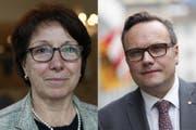 Barbara Bär und Roger Nager. (Bilder: Urner Zeitung / Keystone)