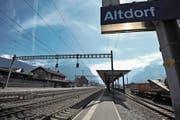 Blick auf den Bahnhof Altdorf. (Bild: Urs Hanhart (15. März 2017))