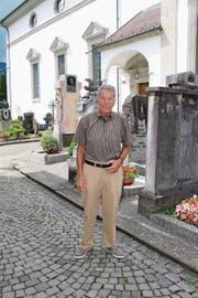 Tino Valsecchi, 65 Jahre später an gleicher Stelle... (Bild: Franziska Herger (Altdorf, 30. Juni 2017))