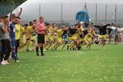 Der Moment der Entscheidung: Der FC Altdorf darf den hart umkämpften Cupsieg 2017 bejubeln. (Bild: Roger Zbinden (Littau, 3. Juni 2017))